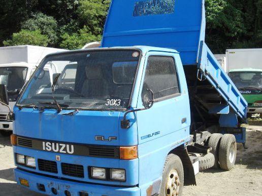 Used Isuzu Elf Mini Dump Truck - 4bc2