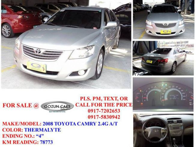 Used Toyota Camry 2008 Camry For Sale Pampanga Toyota