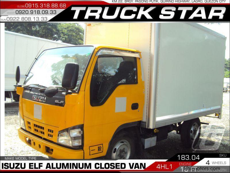 Used Isuzu Elf Aluminum Closed Van   2017 Elf Aluminum