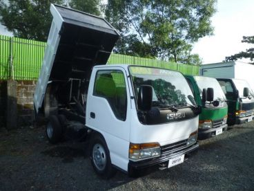 Pre-owned Isuzu Elf Recon Mini dump 4HF1 High Side white for sale in
